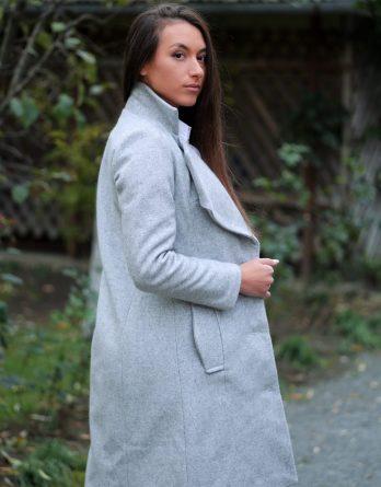 Palton gri de damă