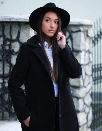 Palton negru de damă