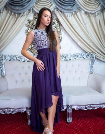 rochie de seară brodată