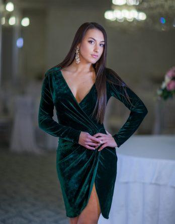 rochie de seară din catifea