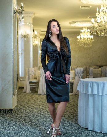rochie de seară din Satin
