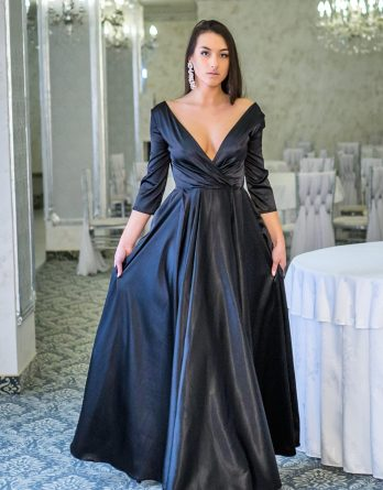 rochie de seară satinată