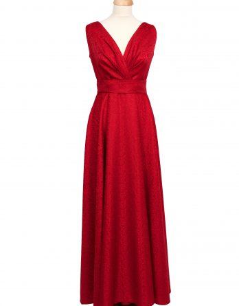 rochie lunga din tafta ROSIE cu pliuri