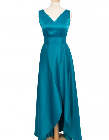 rochie lunga din tafta TURCOAZ