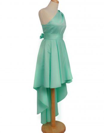 rochie midi din tafta cu umar gol