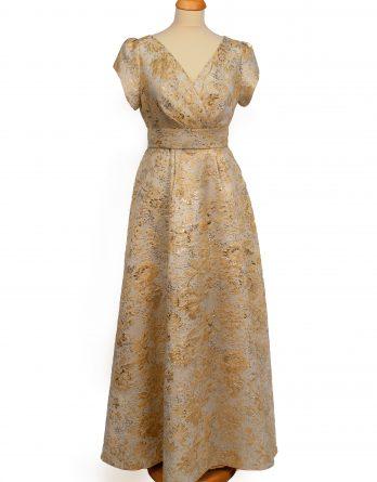 rochie lunga din brocard AURIU